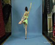 Mila Gimnasterka hairy tight babe doing gymnastics from nude girls hairy legs