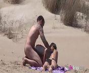 Beach Dogging! Ainara fucks a voyeur and a couple join the fun from kisum fake nude